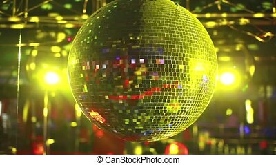 Mirror ball rolling in the night cl