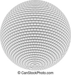 Mirror Disco Ball - White Disco Ball on white background for...