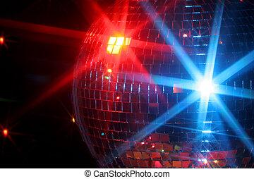 disco ball - mirror disco ball giving off a party vibe at a...