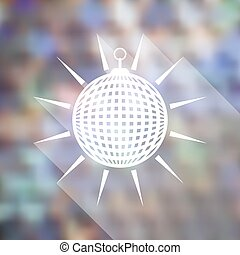 Mirror disco ball icon