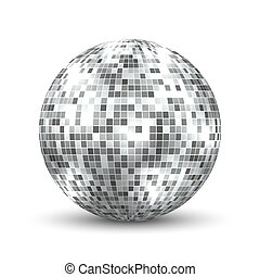 Mirror disco ball isolated.