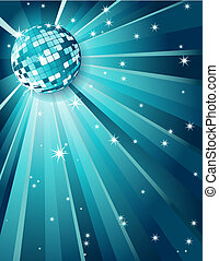 Mirror disco ball - Vector illustration - Mirror disco ball