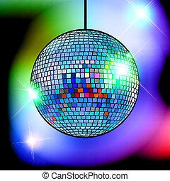 mirror disco ball vector illustration EPS10.