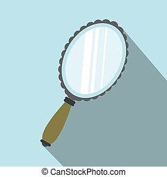 Mirror flat icon with shadow