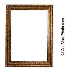 Mirror frame isolated on a white background