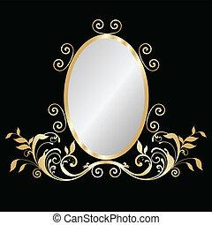 Mirror gold frame