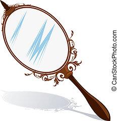 Mirror - Illustration of a hand mirror