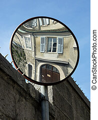 Mirror in a street