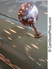 Mirror on an old classic car