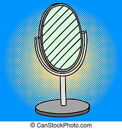 Mirror Pop art vector illustration
