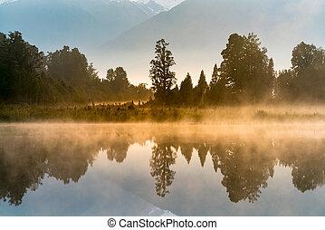 Mirror reflection water Matheson lake