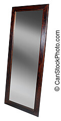 Mirror taken on a clean white background.