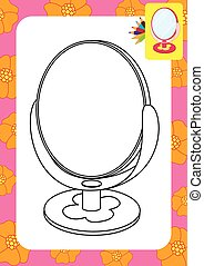 Mirror toy. Coloring page