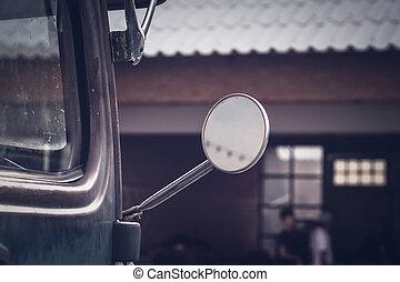 mirror vintage vehicle