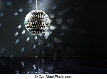 Mirrorball over the dance floor