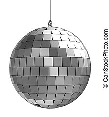 Mirrorball - 3d of mirrorball isolated on a white background...