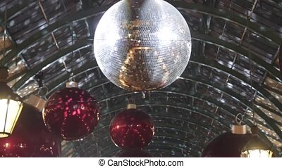 Mirrored Ball and Christmas Decoration in London
