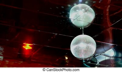 mirrored discoball disco ball light flashes - mirrored...