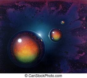 mirroring balls