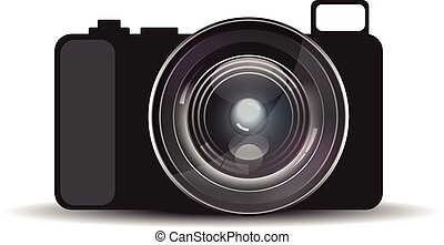 Mirrorless camera with realistic lens