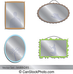 Mirrors - Image of mirrors isolated on a white background.