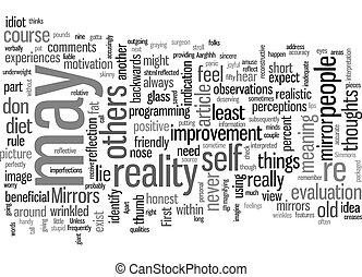 Mirrors text background wordcloud concept
