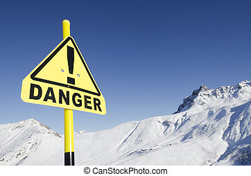 mis danger, montagne