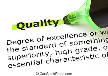 mis valeur, qualité, vert