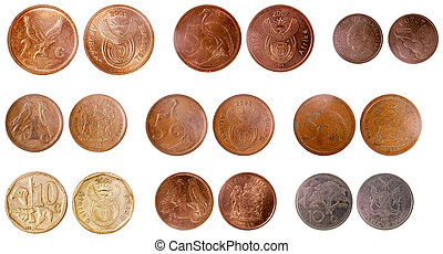 misc old coins of africa