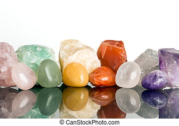 misceláneo, mineral, piedras, cristal, curación, para,...