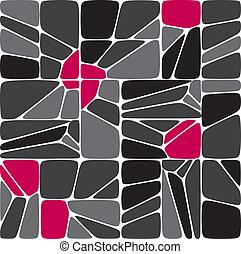 miscelare, seamless, mosaico, modello