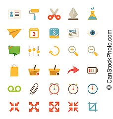 Miscellaneous Flat Icons - A set of 30 miscellaneous flat...