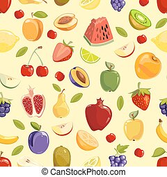 Miscellaneous vector fruits seamless pattern