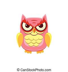 Mischievous Pink Owl