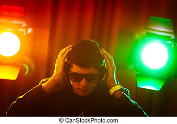 mischung, dj, musik, disko