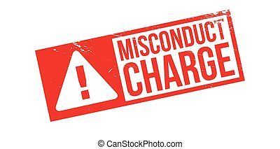 Misconduct Charge rubber stamp. Grunge design with dust...