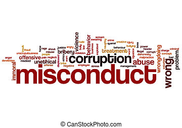 Misconduct word cloud concept