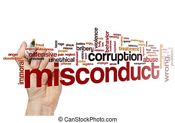 Misconduct word cloud