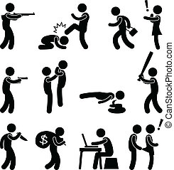 misdaad, moordenaar, terrorist, violence