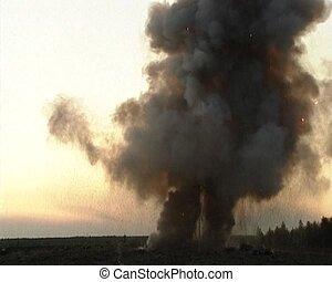 mise en décharge, explosion