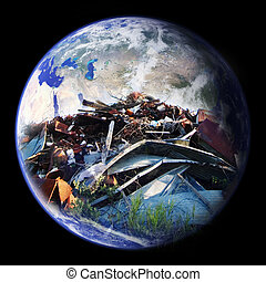 mise en décharge, la terre
