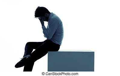 Miserable businessman lost his job - Miserable businessman...