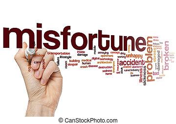 Misfortune word cloud