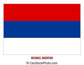 Misiones Flag Vector Illustration on White Background. Flag of Argentina Provinces.