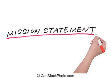 misja, deklaracja