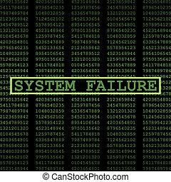 mislukking, systeem