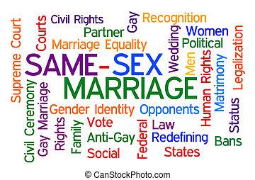 mismo, sexo, matrimonio