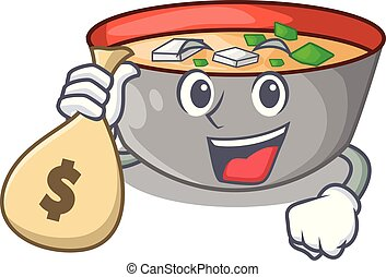 miso スープ, お金, ボール, 日本語, 袋, 漫画