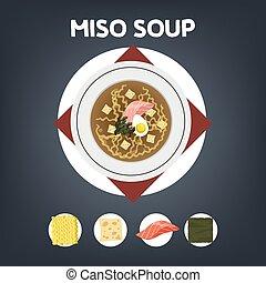miso スープ, 料理, レシピ, 家
