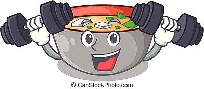 miso, ボール, 日本語, スープ, フィットネス, 漫画